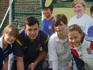 Sarah Thomas England Hockey visits Anthony Gell RDSSP