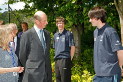 Duke of Kent at Highfields with Jayne Allen