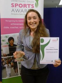 Runner-up in the Young Leader of the Year category, cyclist Emily Watson-Thoday, former Highfields pupil