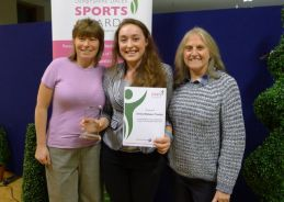 RDSSP Partnership Manager with cyclist Emily Watson-Thoday Highfields SSCo Jayne Allen with Emily won the RDSSP sponsored Young Sports Leader of the Year Award
