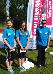 Annabel (centre) at Derbyshire School Games