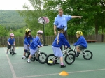 Youngsters at Grindleford Primary School have Early Rider bike training with RDSSP Management Assistant, Eliot Martin-French.